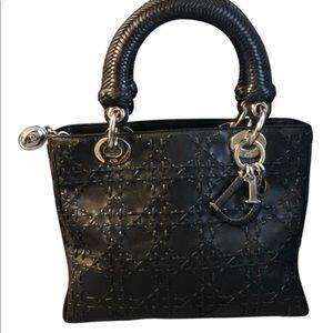 Dior Bags - Dior lady Medium black leather basket